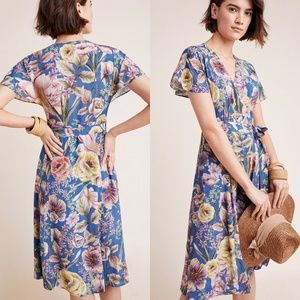 ANTHROPOLOGIE x Kachel Willow Floral Wrap Dress